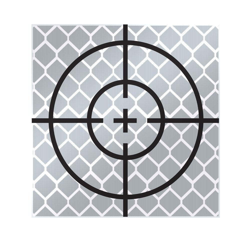 40mm Reflective Retro Target, Stick-ons (10 Pack)