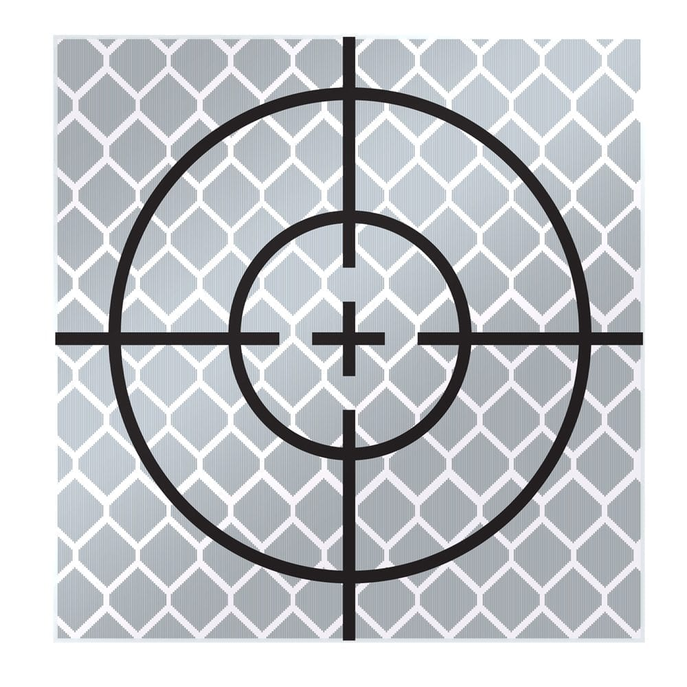 50mm Reflective Retro Target, Stick-ons (10 Pack)