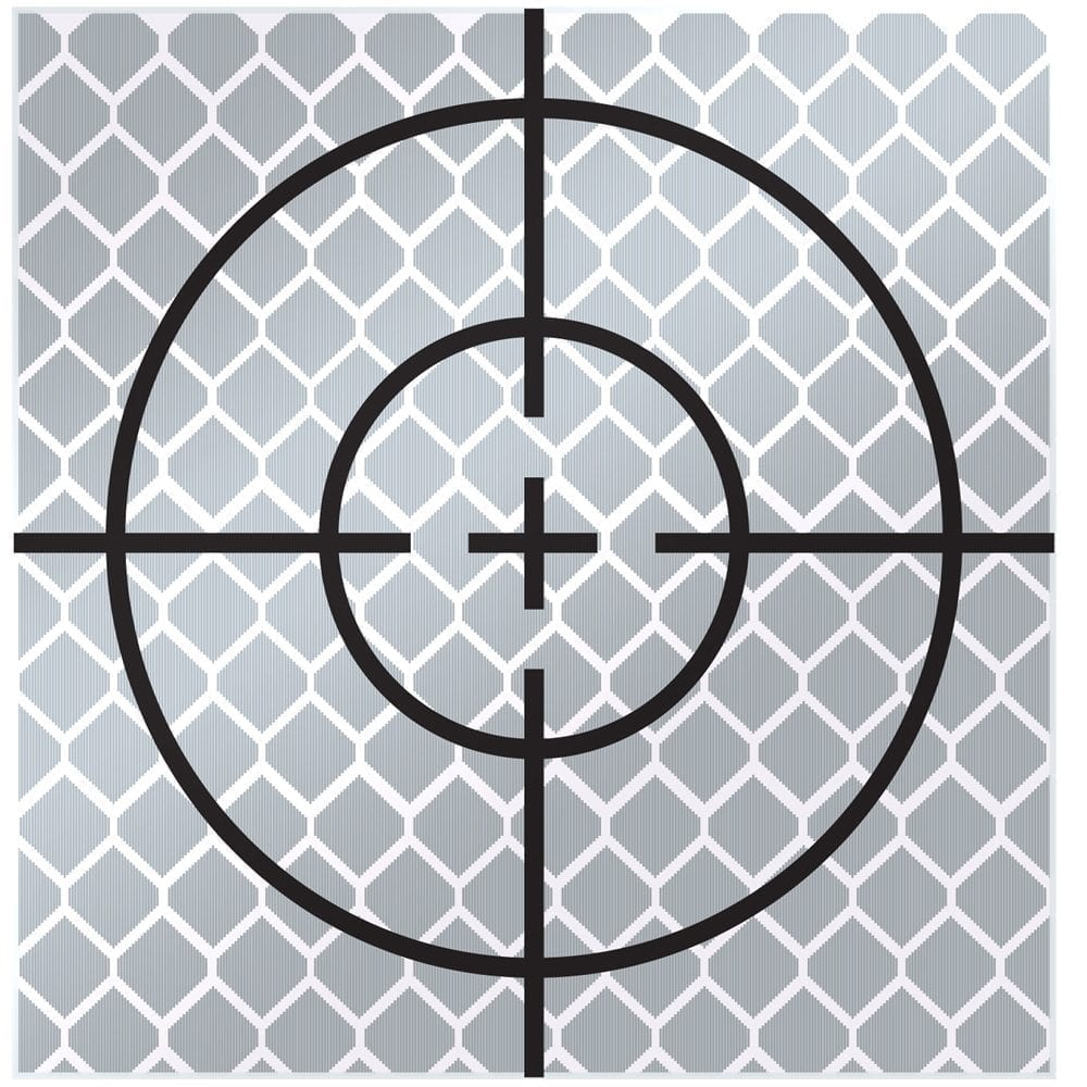 60mm Reflective Retro Target, Stick-ons (10 Pack)