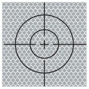 90mm Reflective Retro Target, Stick-ons (10 Pack)