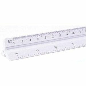 "12"" Scale Engineering Plasitc Triangular Scale"